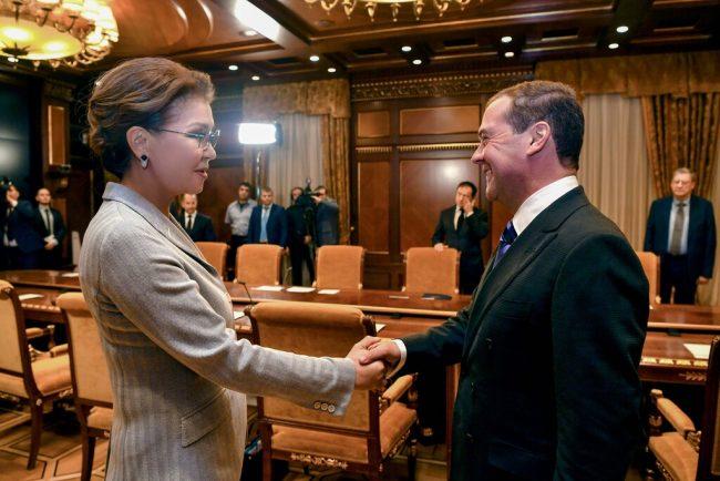 Состоялась встреча Дариги Назарбаевой с Председателем Правительства РФ Дмитрием Медведевым