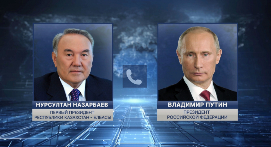 Нурсултан Назарбаев и Владимир Путин обсудили меры по борьбе с коронавирусом