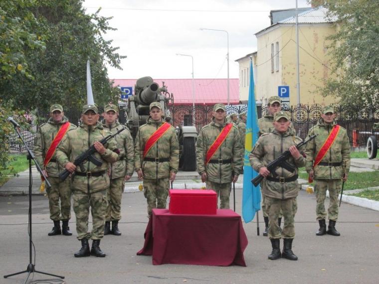 В Омске состоялась передача останков казахстанского воина