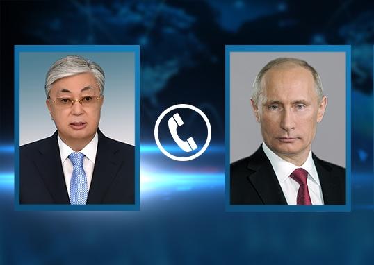 Состоялся телефонный разговор президентов Казахстана и России