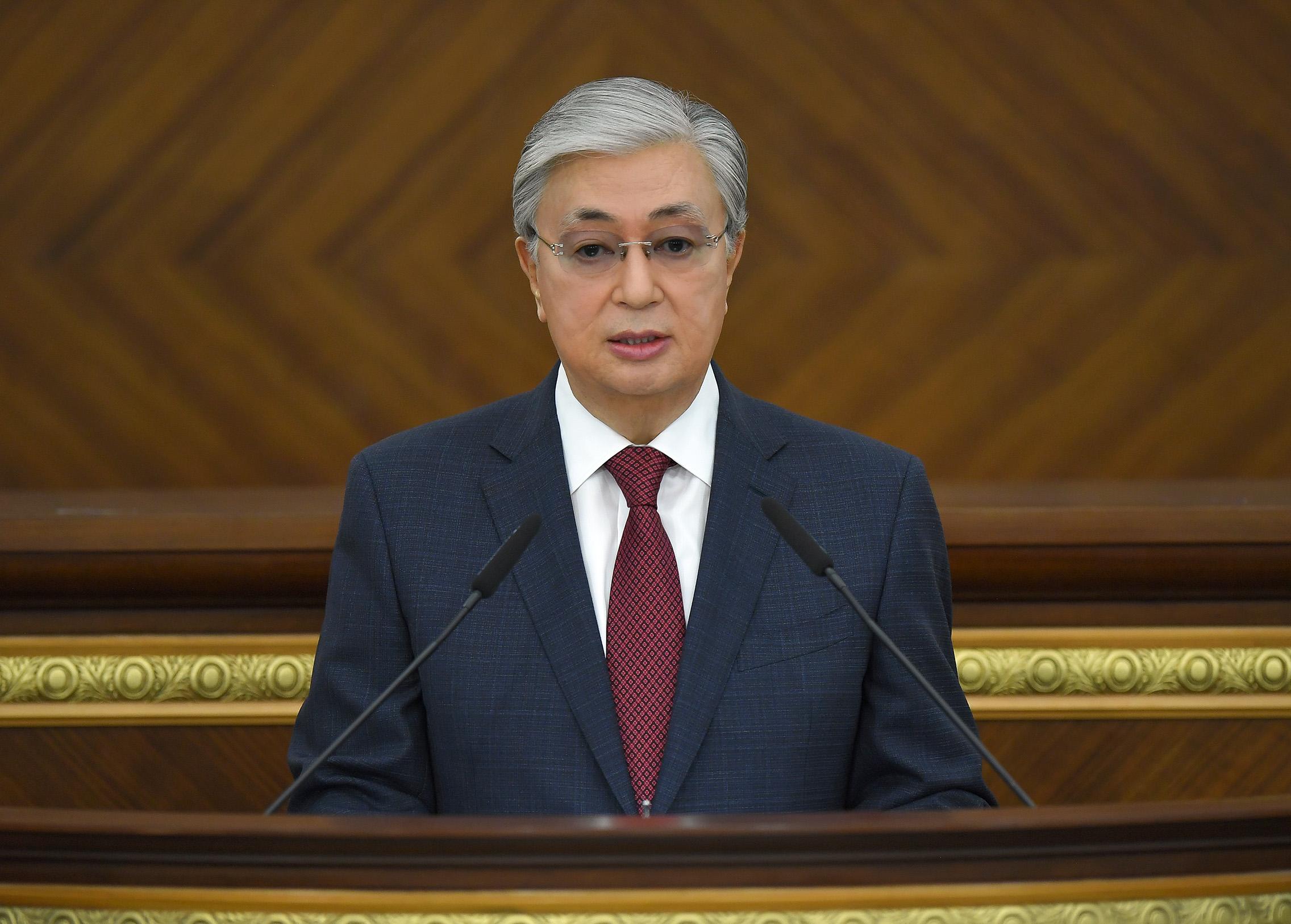 Выступление Главы государства Касым-Жомарта Токаева на открытии первой сессии Парламента Республики Казахстан VII созыва