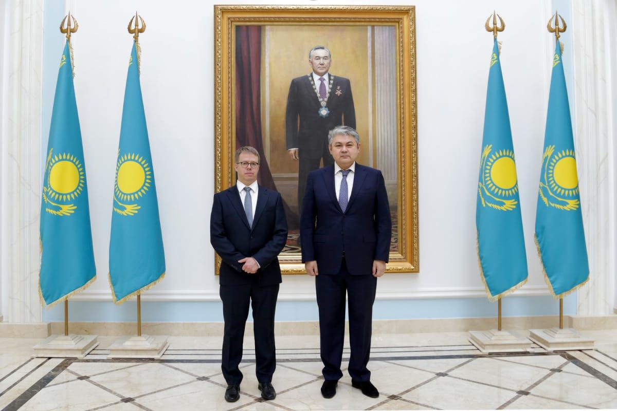 Посол Финляндии посетил Посольство Казахстана с визитом вежливости