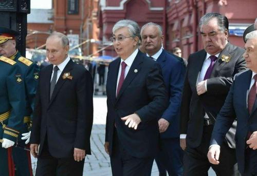 Президент Казахстана Касым-Жомарт Токаев посетил Парад Победы в Москве