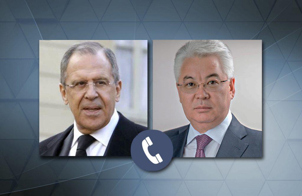 Состоялся телефонный разговор глав МИД РК и РФ
