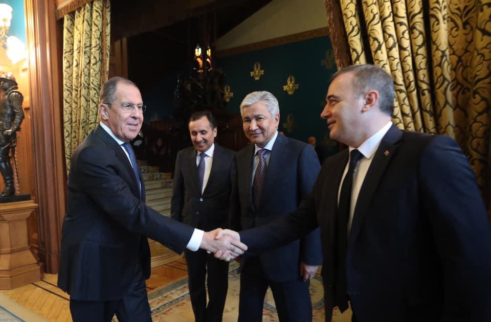 Состоялась встреча Посла РК в РФ И.Тасмагамбетова и Министра иностранных дел РФ С.Лаврова