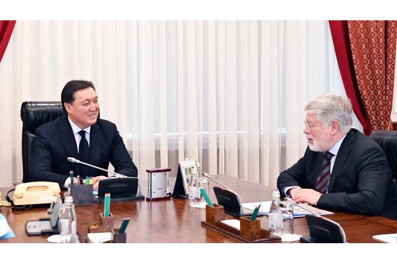 ҚР Премьер-Министрі А.Мамин ҚР-дағы РФ Елшісі А.Бородавкинді қабылдады