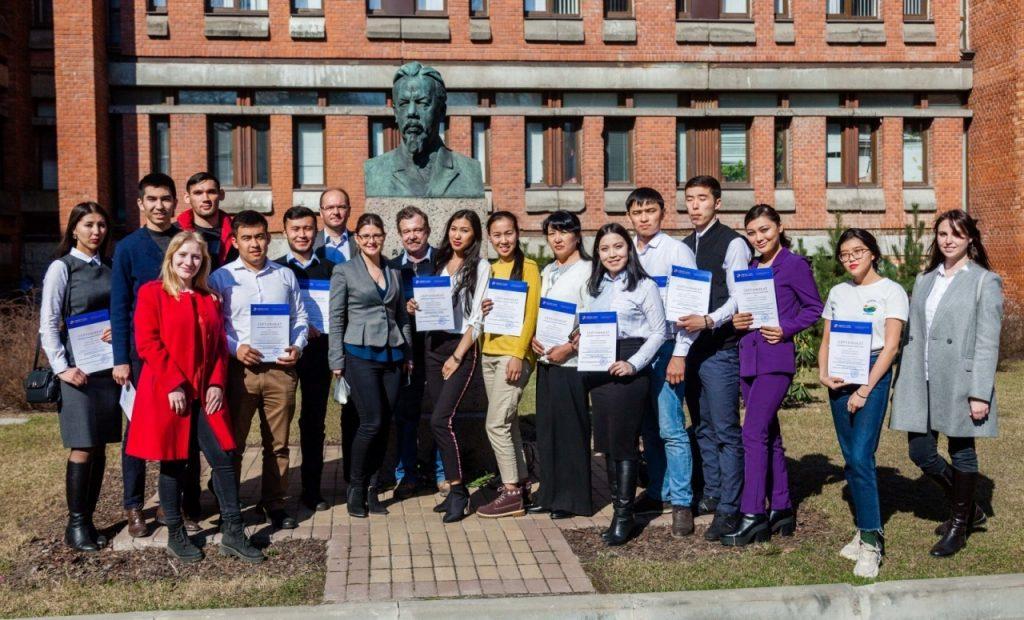 Магистранты КазНУ прошли научную стажировку в Санкт-Петербурге