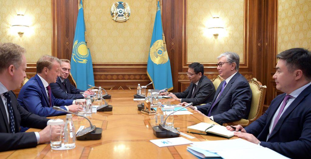 Президент Казахстана К-Ж.Токаев принял главу Сбербанка России Г.Грефа