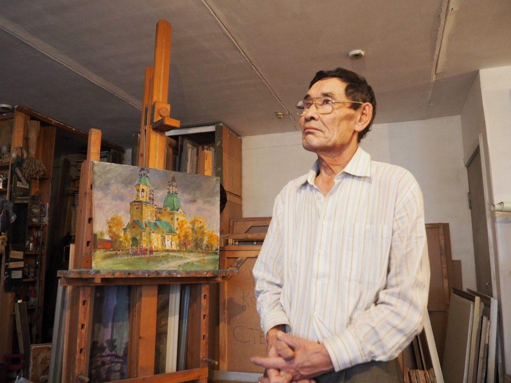 В Омске открылась выставка Амангельды Шакенова
