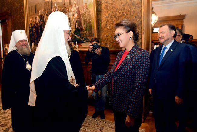 Дарига Назарбаева встретилась с Патриархом Кириллом