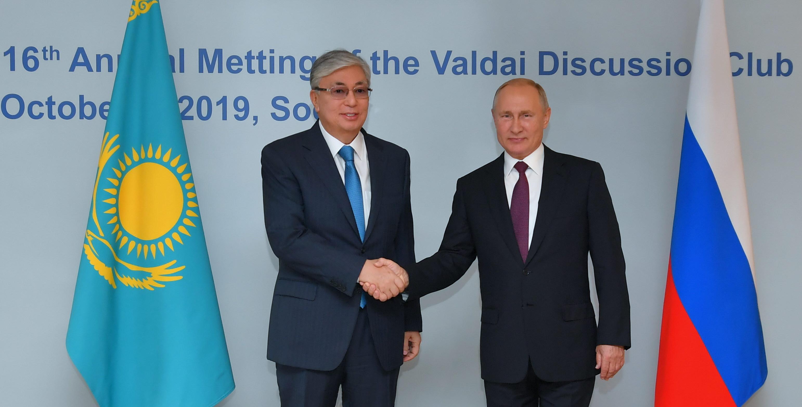 В Сочи состоялась встреча президентов Казахстана и России