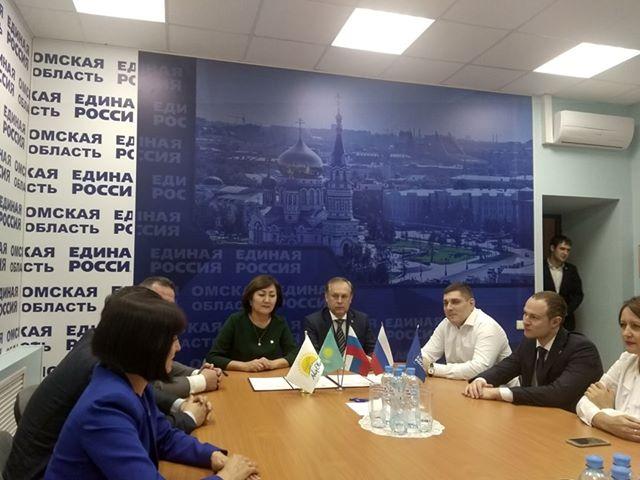 В Омске состоялась встреча ведущих партий России и Казахстана