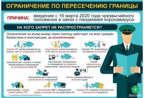 Ограничения по пересечению границы Казахстана и России